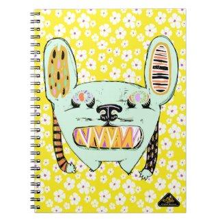 Big Teeth Bunny Monster Notebook