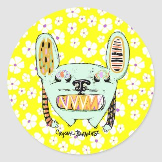 Big Teeth Bunny Monster Stickers