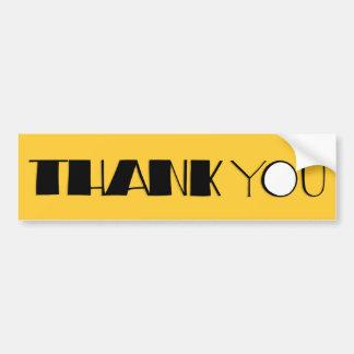 Big Thank You black Bumper Sticker