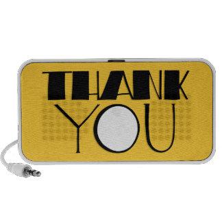 Big Thank You black Doodle Speakers