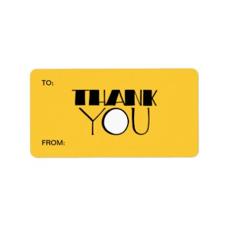 Big Thank You black Gift Tag label