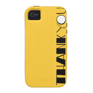 Big Thank You black iPhone 4 Case-Mate Tough™ iPhone 4/4S Covers