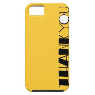 Big Thank You black iPhone 5 Case-Mate Tough™ iPhone 5 Case
