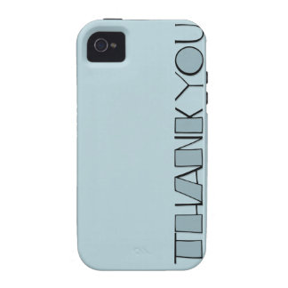 Big Thank You blue iPhone 4 Case-Mate Tough™ Vibe iPhone 4 Covers