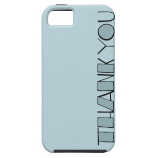 Big Thank You blue iPhone 5 Case-Mate Tough™ iPhone 5 Cover
