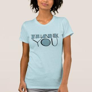 Big Thank You blue Ladies T-shirt