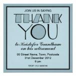 Big Thank You blue Retirement Invitation