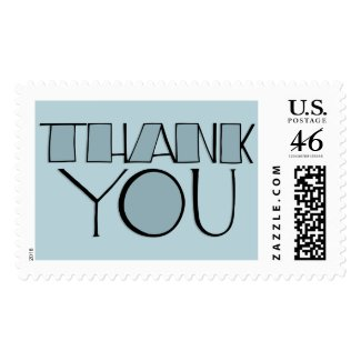 Big Thank You blue Stamp stamp