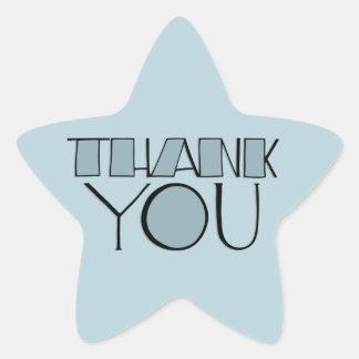 Big Thank You blue Star Sticker