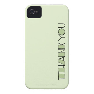 Big Thank You green BlackBerry Bold Case-Mate iPhone 4 Case