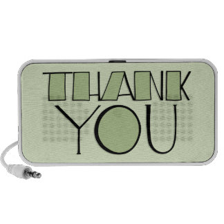 Big Thank You green Doodle Speakers