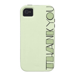 Big Thank You green iPhone 4 Case-Mate Tough™ iPhone 4 Cover
