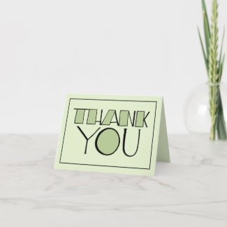 Big Thank You green Note Card card