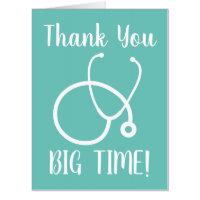 Big Thank you oversized nursing greeting cards