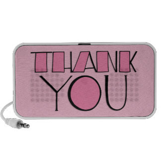 Big Thank You pink Doodle Speakers