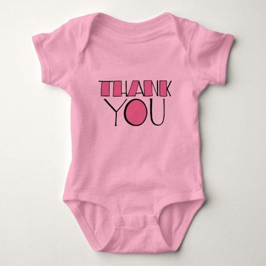 Big Thank You pink Infant Baby Bodysuit