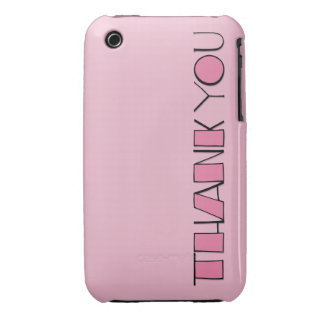 Big Thank You pink iPhone 3G/3GS Barely There iPhone 3 Case