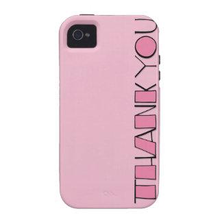 Big Thank You pink iPhone 4 Case-Mate Tough™ Case-Mate iPhone 4 Case