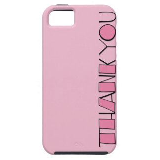 Big Thank You pink iPhone 5 Case-Mate Tough™ iPhone 5 Covers
