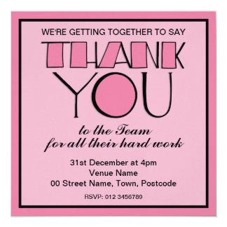Big Thank You pink Thank You Team Invitation
