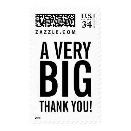 BIG THANK YOU postage stamps | 35 cent