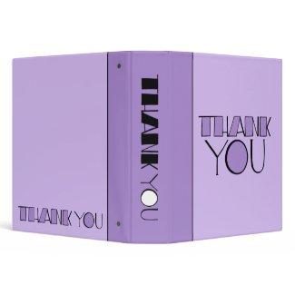 Big Thank You purple Binder binder