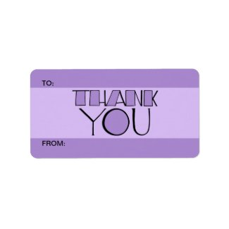 Big Thank You purple Gift Tag label
