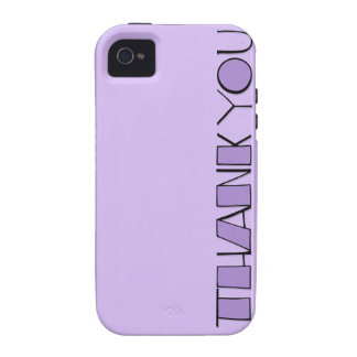 Big Thank You purple iPhone 4 Case-Mate Tough™ iPhone 4/4S Cases