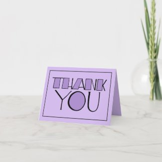 Big Thank You purple Note Card card