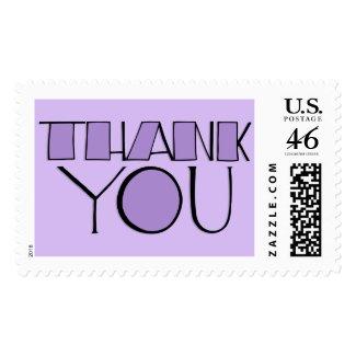 Big Thank You purple Stamp stamp