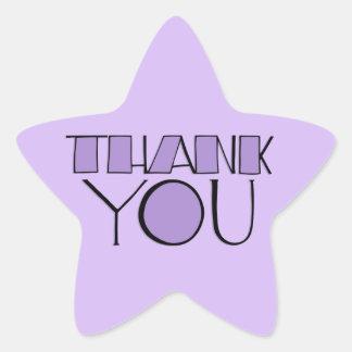 Big Thank You purple Star Sticker