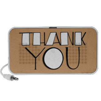 Big Thank You white Doodle Speakers