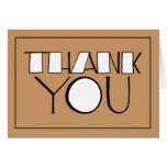 Big Thank You white Note Card