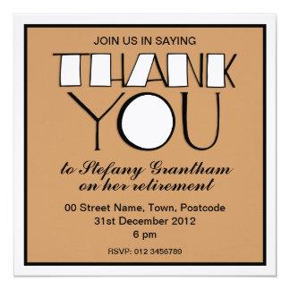 Big Thank You white Retirement Invitation
