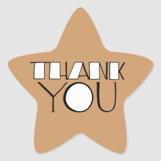 Big Thank You white Star Sticker