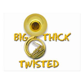 Big Thick Twisted Postcard