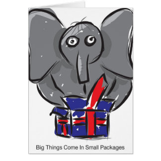 Big Things Come In Small Packages Card
