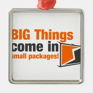 BIG Things Come In Small Packages Metal Ornament