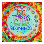 """Big Things"" Inspirivity Poster"