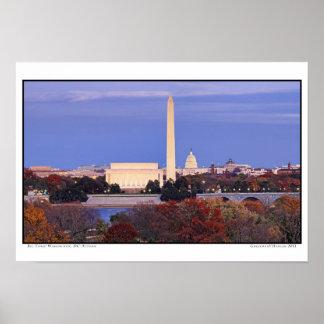 Big Three- Washington, DC- Autumn Poster