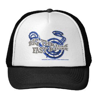 Big thrills, Fast wrinkles Blue Youtube Chanel Trucker Hat