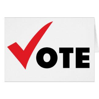 Big Tick Vote Card