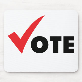 Big Tick Vote Mouse Pad