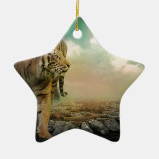 Big Tiger Ceramic Ornament