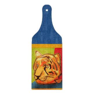 Big Tiger Decorative Glass Cutting Board Paddle