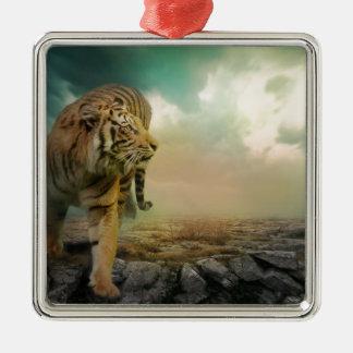 Big Tiger Metal Ornament