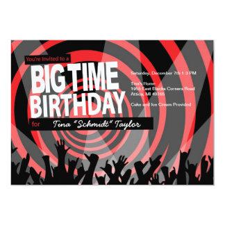 "Big Time Birthday Lights Invitation 5"" X 7"" Invitation Card"
