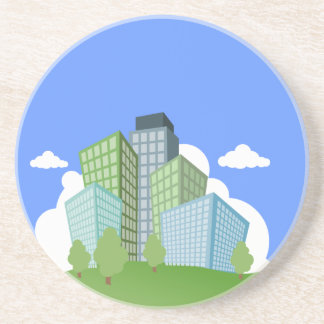 Big Time Corporation - Skyscraper Sandstone Coaster