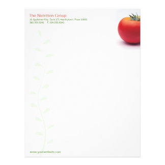 Big Tomato Nutritionist Letterhead