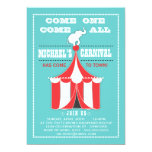Big Top Carnival Birthday Party Turquoise | Red Announcements